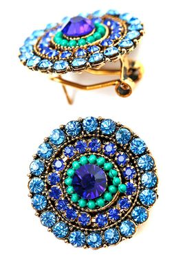 Серьги Cesare Conte                                                                                                              синий цвет