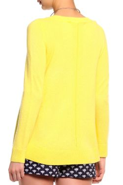 Джемпер Длинный Рукав Diane Von Furstenberg                                                                                                              желтый цвет