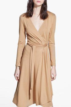 Платье Mango                                                                                                              бежевый цвет