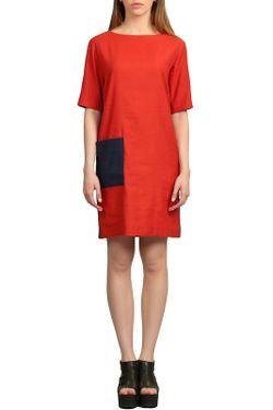 Платье Энсо ЭНСО                                                                                                              красный цвет