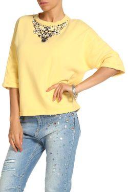 Кофта Twin-Set Jeans                                                                                                              желтый цвет