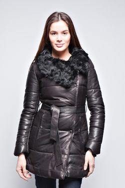 Кожаная Куртка Giorgio                                                                                                              чёрный цвет