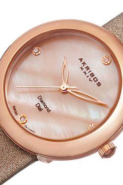 Часы Akribos Xxiv                                                                                                              бежевый цвет