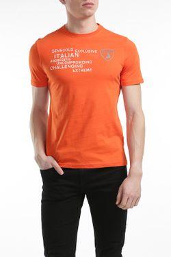 Футболка Automobili Lamborghini                                                                                                              оранжевый цвет