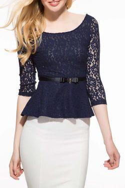 Блуза Lela Rose                                                                                                              синий цвет