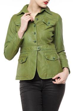 Куртка Germans leather                                                                                                              зелёный цвет