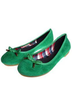 Балетки Tommy Hilfiger                                                                                                              зелёный цвет