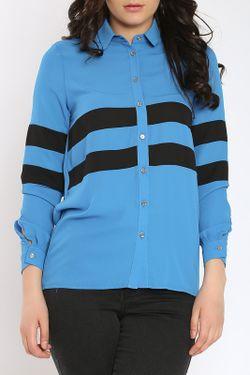Рубашка Collezione Di Ines                                                                                                              синий цвет