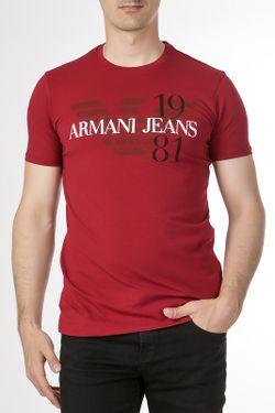 Футболка ARMANI JEANS                                                                                                              красный цвет