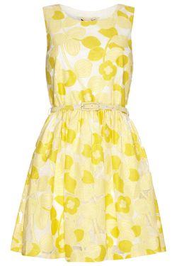 Платье Yumi                                                                                                              желтый цвет