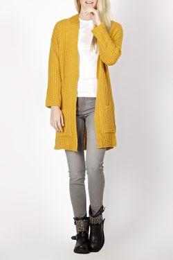 Кардиган Zedd Plus                                                                                                              желтый цвет