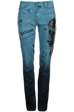 Джинсы Galliano                                                                                                              синий цвет
