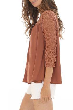 Блузка CANTARELLI MILANO                                                                                                              коричневый цвет