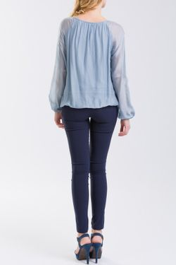 Блузка NUNA LIE                                                                                                              синий цвет