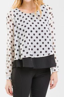 Блузка NUNA LIE                                                                                                              белый цвет