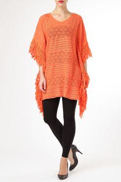 Пончо By Zoe                                                                                                              оранжевый цвет