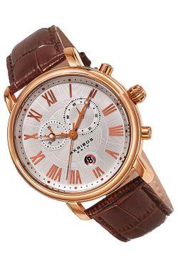Часы Akribos Xxiv                                                                                                              коричневый цвет