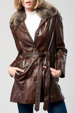Пальто DERIMOD                                                                                                              коричневый цвет