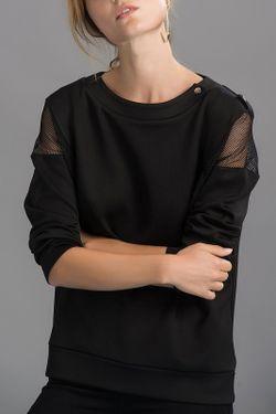 Лонгслив Milla                                                                                                              черный цвет