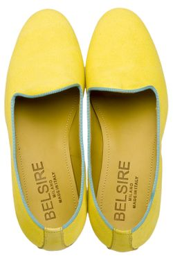 Лоферы BELSIRE MILANO                                                                                                              желтый цвет