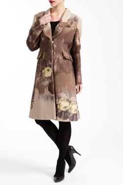 Пальто Paola Collection                                                                                                              коричневый цвет