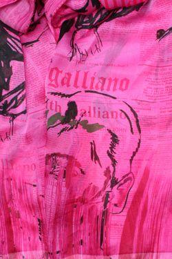 Шарф Galliano                                                                                                              розовый цвет
