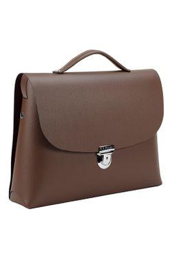 Портфель Almini Milano                                                                                                              коричневый цвет