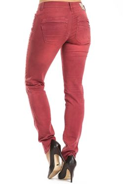 Джинсы COCCARA                                                                                                              красный цвет
