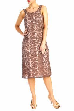Платье D&P                                                                                                              коричневый цвет