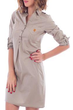 Платье POLO CLUB С.H.A.                                                                                                              коричневый цвет