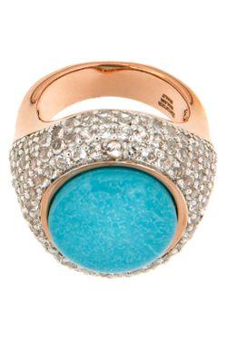 Кольцо Bronzallure                                                                                                              голубой цвет