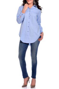 Рубашка VALERIA FRATTA                                                                                                              синий цвет