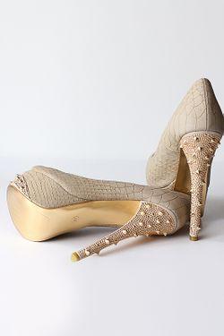 Туфли Liana                                                                                                              бежевый цвет