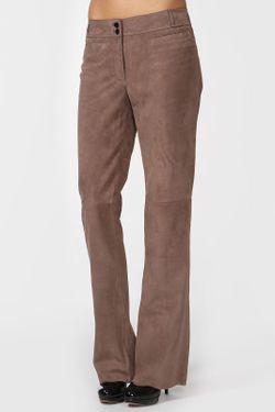 Брюки Замшевые Valentino                                                                                                              коричневый цвет