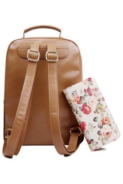 Рюкзак HOW.R.U                                                                                                              коричневый цвет