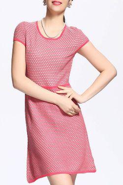 Платье QIANQIU                                                                                                              розовый цвет