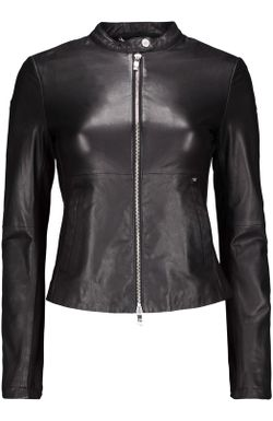 Куртка Кожаная ARMANI JEANS                                                                                                              черный цвет