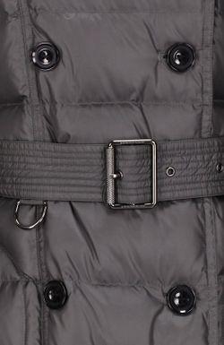 Пальто С Капюшоном И Поясом Burberry Brit                                                                                                              серый цвет