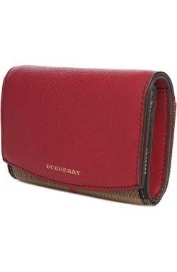 Портмоне Burberry                                                                                                              красный цвет