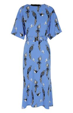 Платье С Поясом No. 21 No21                                                                                                              голубой цвет