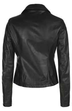 Кожаная Куртка ARMANI JEANS                                                                                                              чёрный цвет