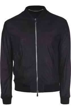 Куртка-Бомбер Кожаная Billionaire                                                                                                              черный цвет