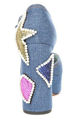 Туфли Marc Jacobs                                                                                                              синий цвет