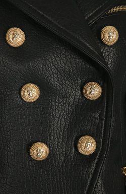 Жакет Кожаный Balmain                                                                                                              коричневый цвет