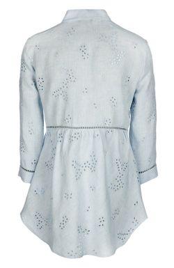 Кружевная Льняная Блуза Ermanno-Ermanno Scervino                                                                                                              голубой цвет