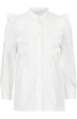 Блуза Прямого Кроя С Воланами И Воротником-Стойкой Marc Jacobs                                                                                                              белый цвет