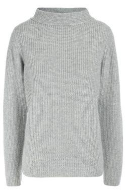 Кашемировый Пуловер Фактурной Вязки С Высоким Воротником Windsor                                                                                                              серый цвет
