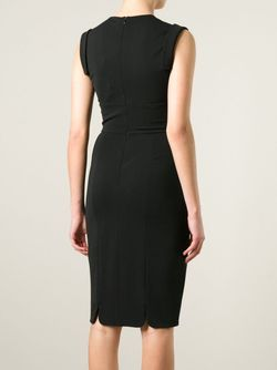 Платье C V-Вырезом Alexander McQueen                                                                                                              черный цвет
