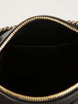 Сумка На Плечо С Золотистыми Деталями Moschino                                                                                                              черный цвет