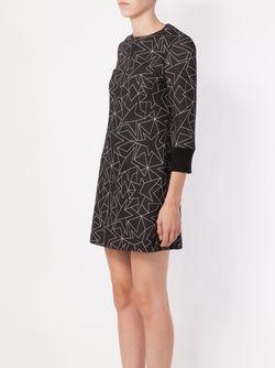 Платье-Шифт С Принтом Звезд Neil Barrett                                                                                                              чёрный цвет
